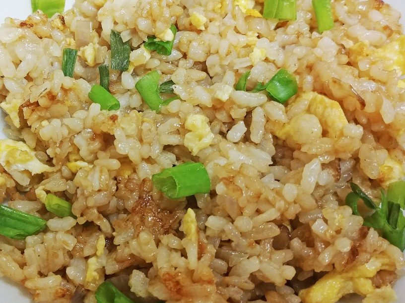 close-up photo of Chinese-style fried rice