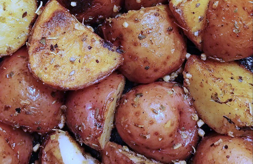 roasted seasoned potatoes