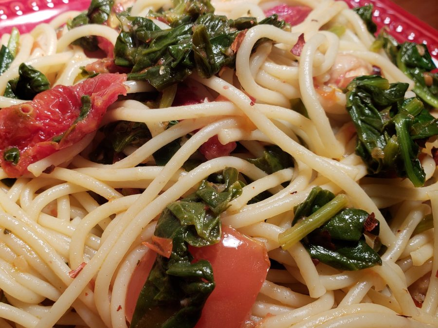 Spinach Tomato Pasta with Chicken
