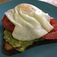 Tomato Avocado Toast with Eggs