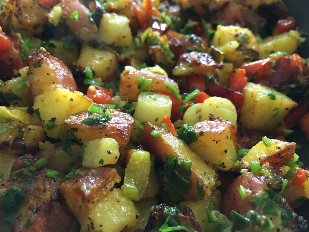 close-up photo of home fries