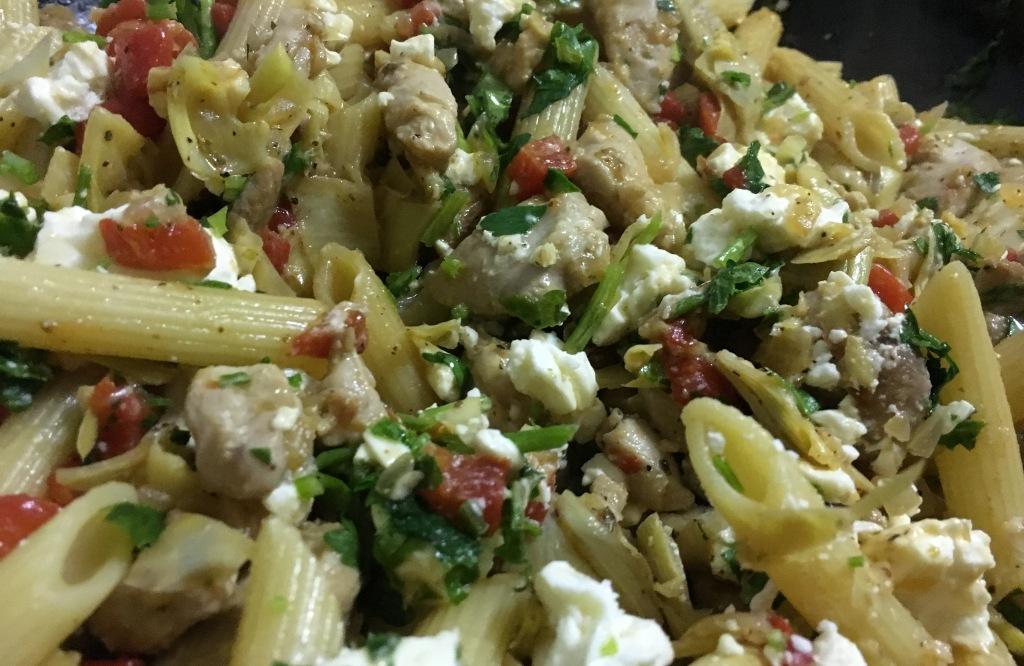 greek chicken with pasta