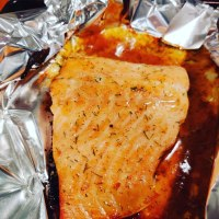 Baked Salmon with Honey Mustard Sauce